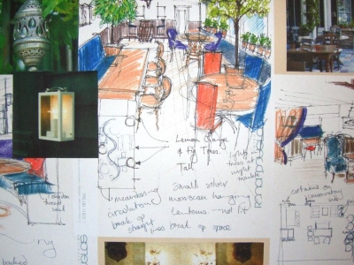 Torridon Inn sketch board